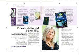 """Faksimile fra intervju med forfatteren i bladet """"Vi over 60"""" 26.februar"""